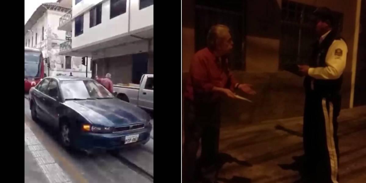 Cuenca: Ciudadano que obstaculizó la ruta del tranvía recibió una citación