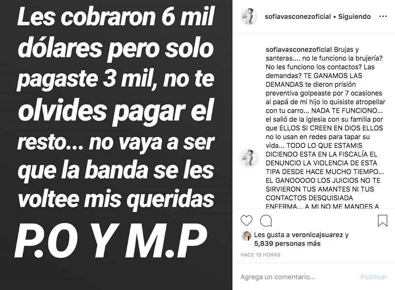 Acusaciones contra Michela Pincay