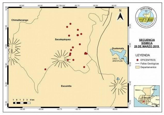 38 temblores por enjambre sísmico