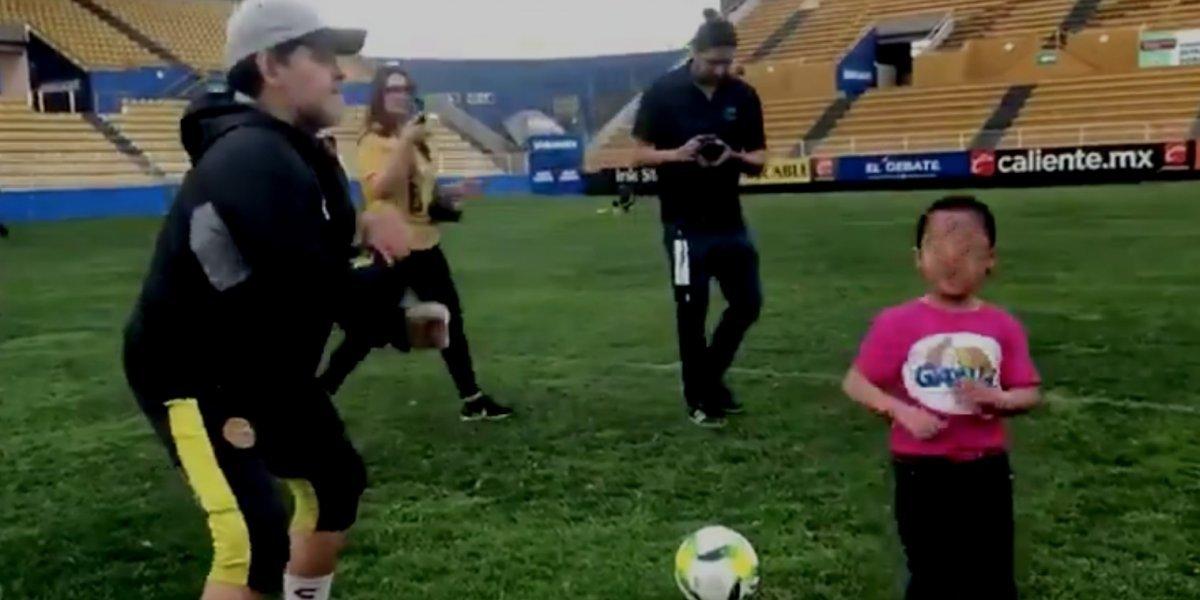 Maradona y su particular dedicatoria a Nicolás Maduro