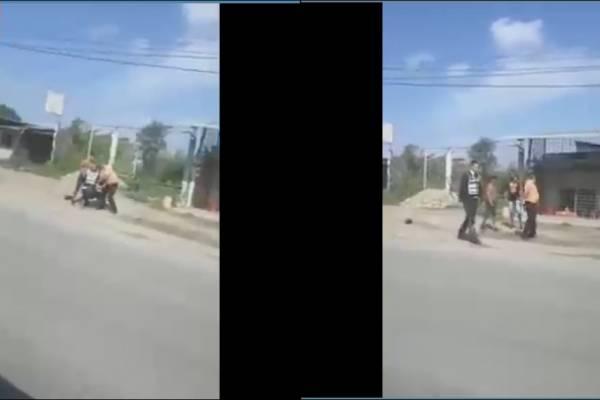 Video revela agresión a vigilantes de la Comisión de Tránsito en El Oro