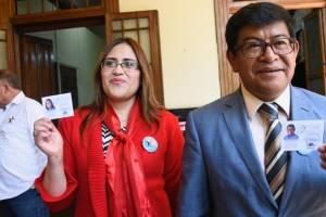Benito Morales y Claudia Valiente, binomo presidencial de Convergencia