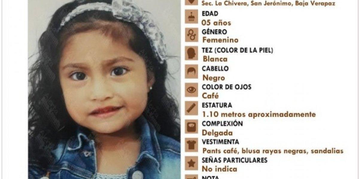 Rescatan en EE. UU. a niña de cinco años desaparecida en Guatemala