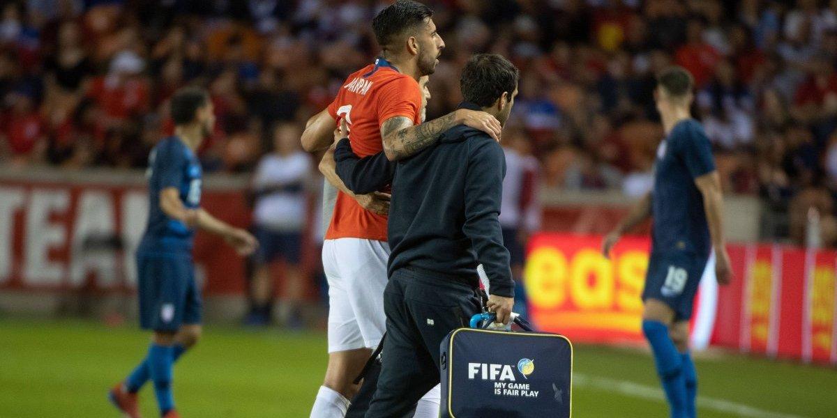 La Roja le jugó una mala pasada: Maripán estará dos semanas fuera por su lesión ante Estados Unidos