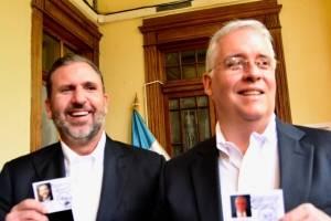 Roberto Arzú y José Farías, binomio presidencial de Podemos y PAN