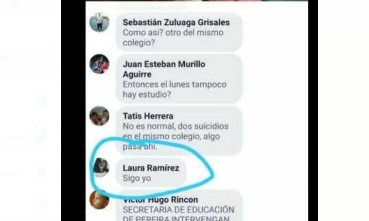 Suicidios colegio Pereira