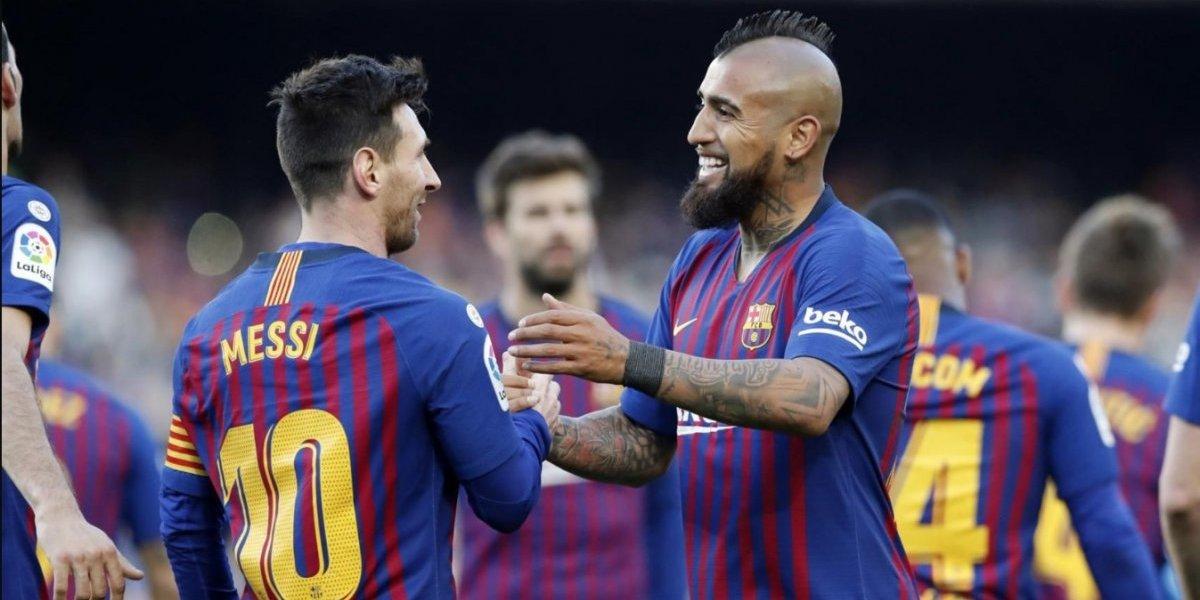 Es costumbre: El Barcelona de Vidal le ganó el derbi al Espanyol con un encendido Messi y sigue firme al título