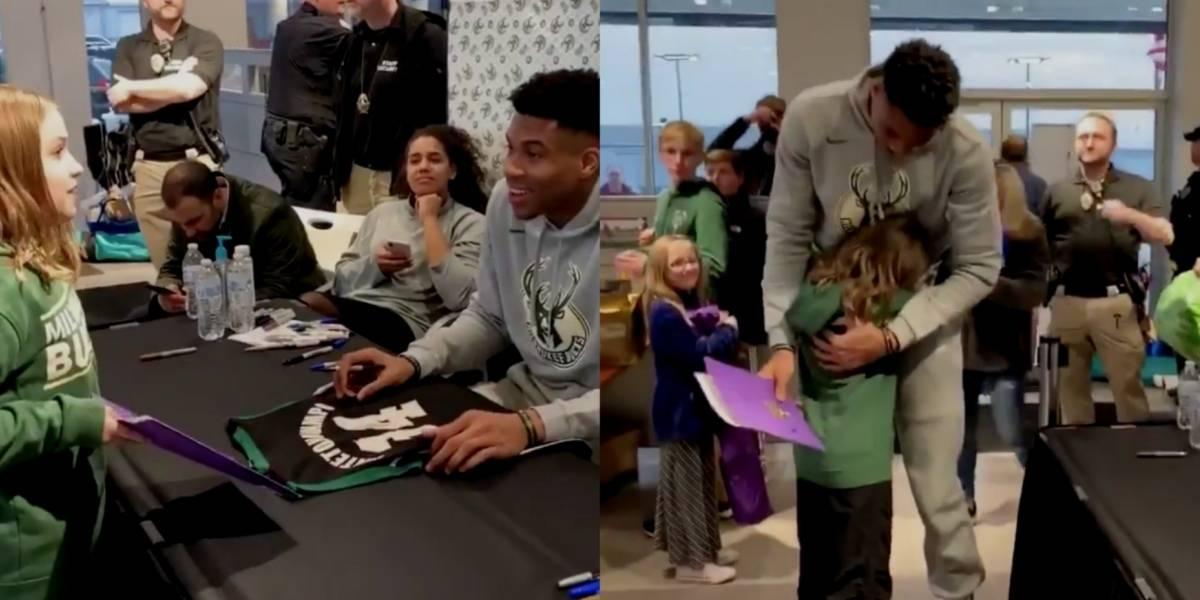 VIDEO: Niña conmueve a jugador de la NBA al regalarle sus trabajos escolares