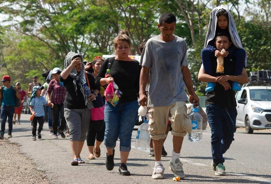 Migrantes centroamericanos. Foto: AP