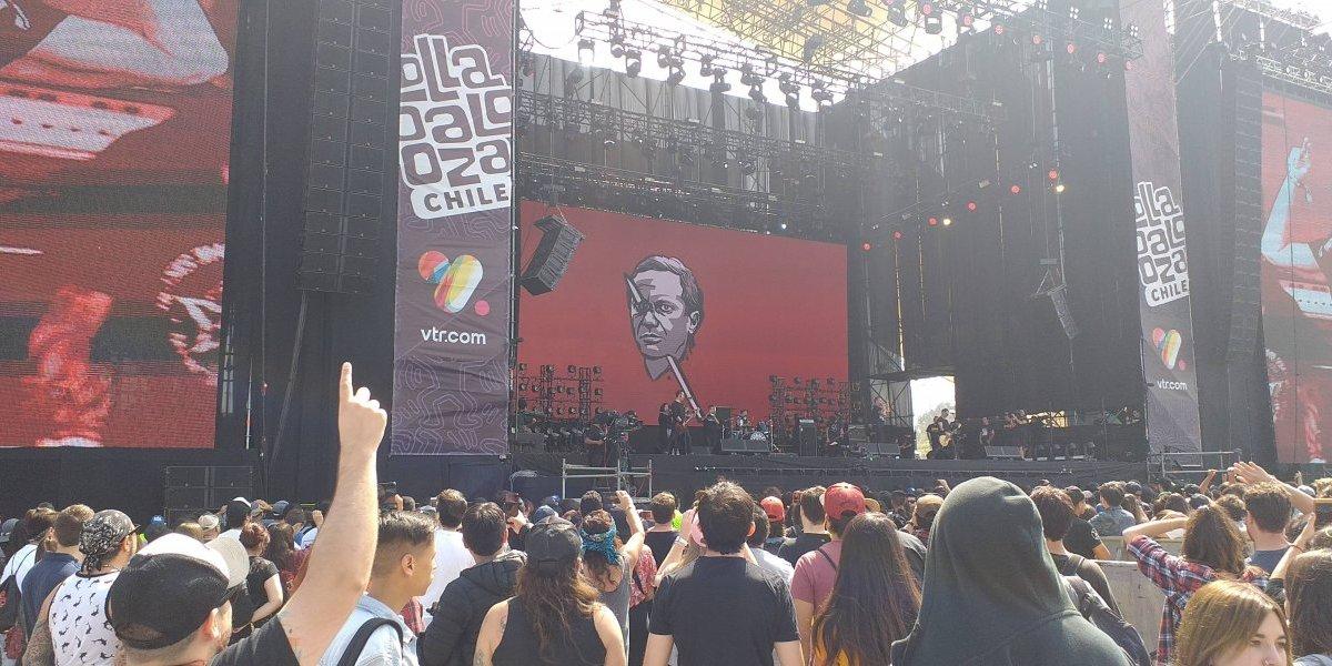 Lollapalooza Chile 2019: la llamativa protesta política de Fiskales Ad-Hok contra Kast, Piñera y Maldonado