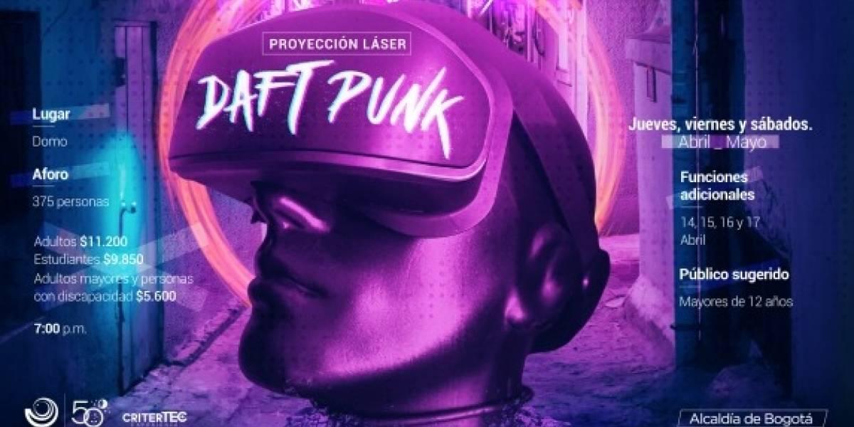 Prográmese para el show láser de Daft Punk en el Planetario de Bogotá