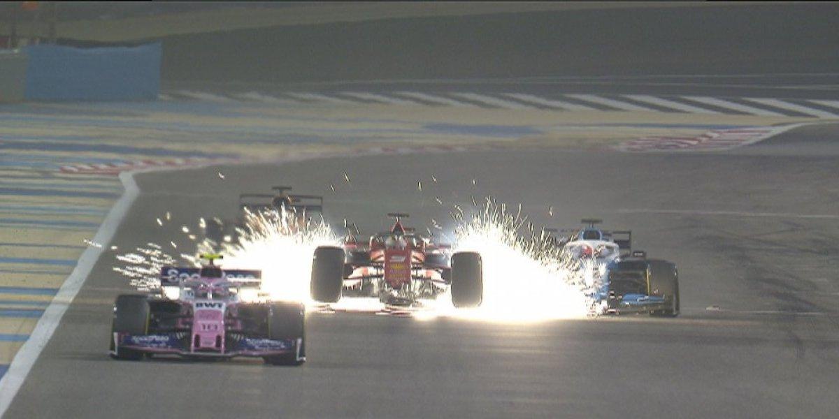 F1 Gran Premio Bahréin- Sakhir: Ferrari pierde más que un alerón, Mercedes nuevamente se hace del podio