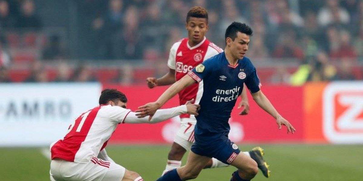 Chucky Lozano y PSV pierden el Clásico ante el Ajax