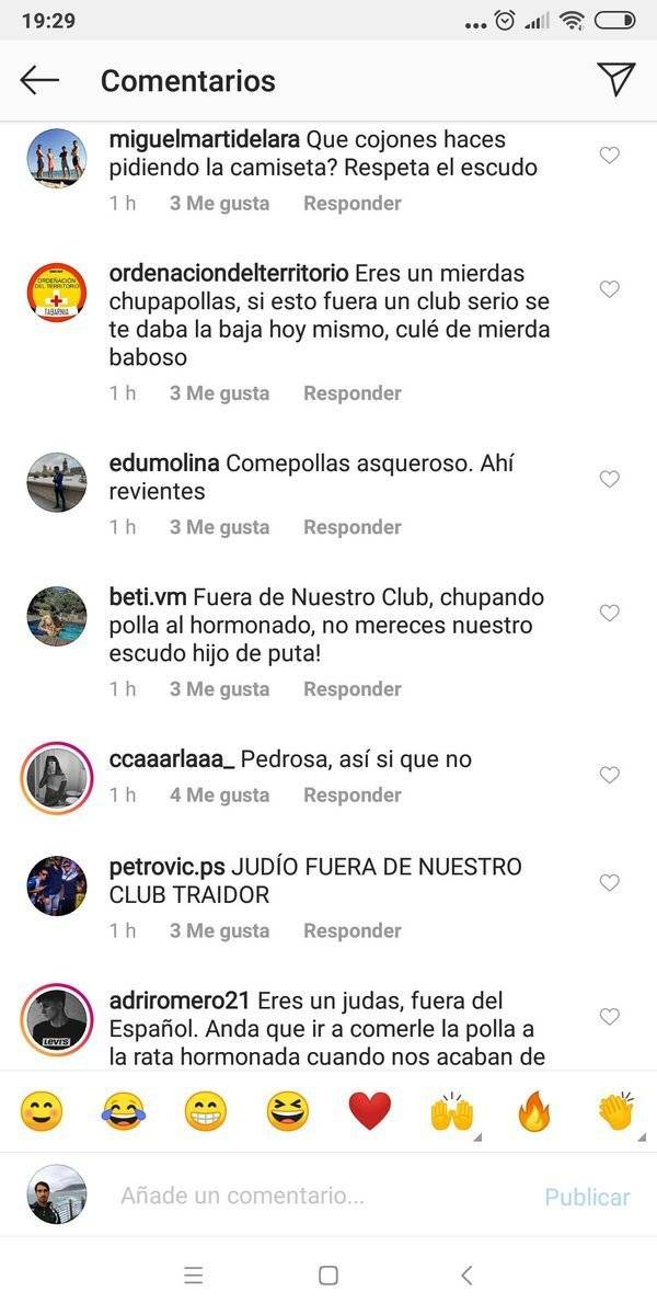 Insultos contra Pedrosa