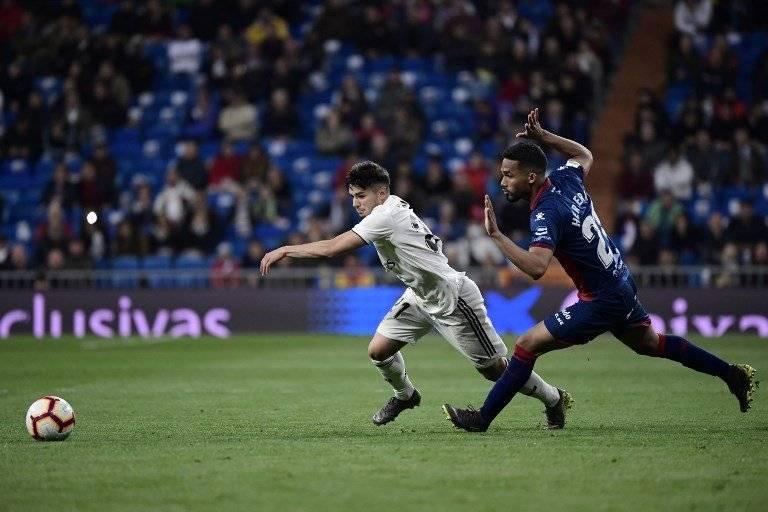 Brahim Díaz contra el Huesca
