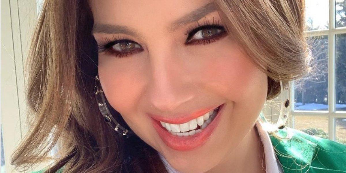 Thalía causa reacciones al mostrarse al natural