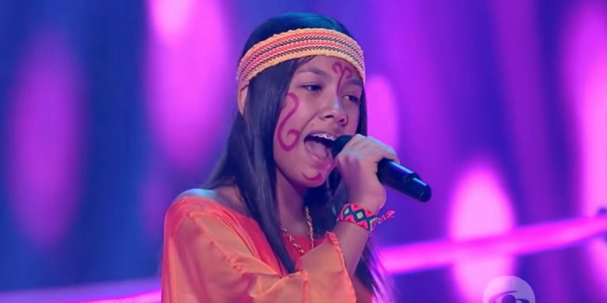 Niña que canta en lengua wayú enamoró a los televidentes de 'La voz kids'