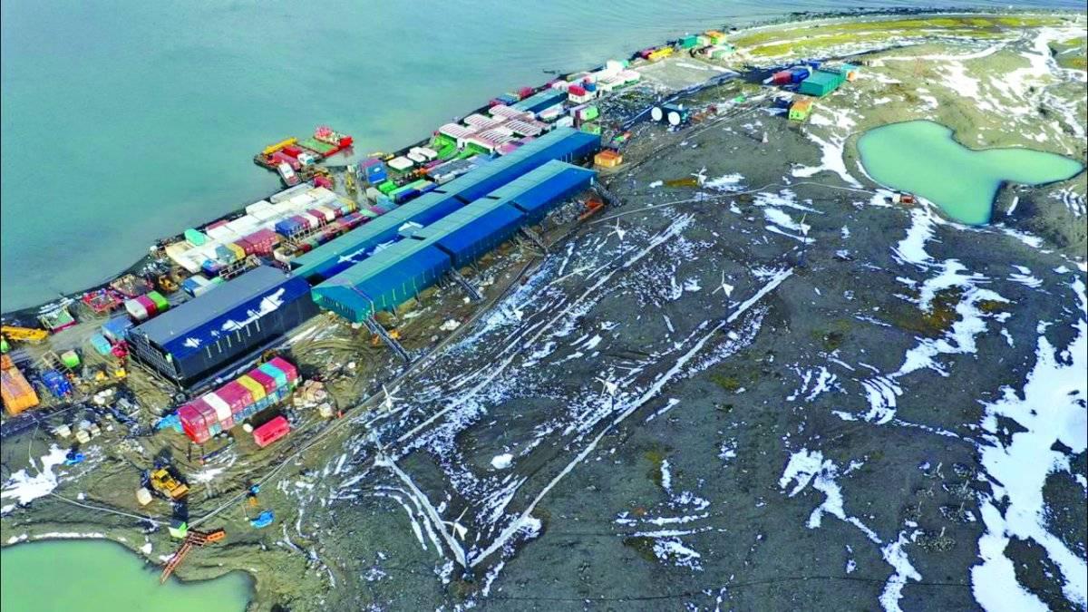 Imagem captada por drone da estação Comandante Ferraz Henrique Pereira/Band