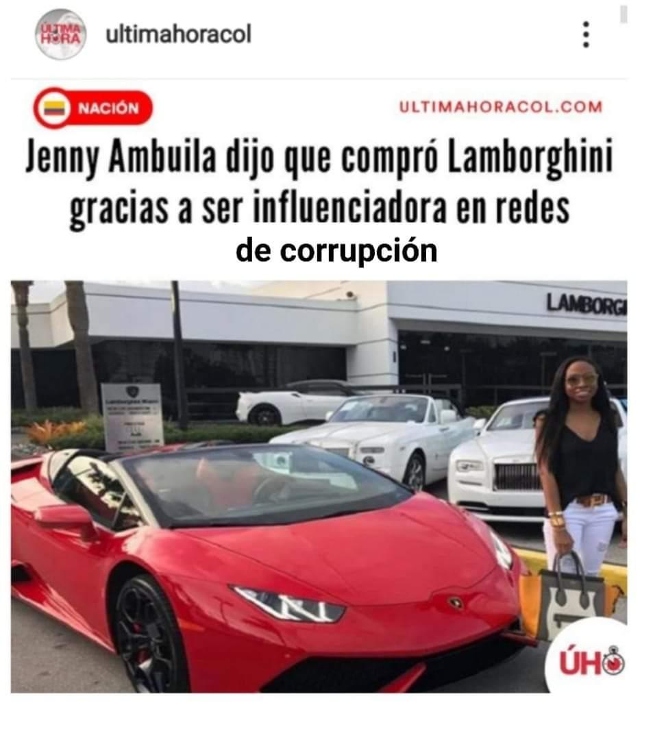 Joven capturada asegura que la compra de su Lamborghini se debió a su supuesto oficio como influencer