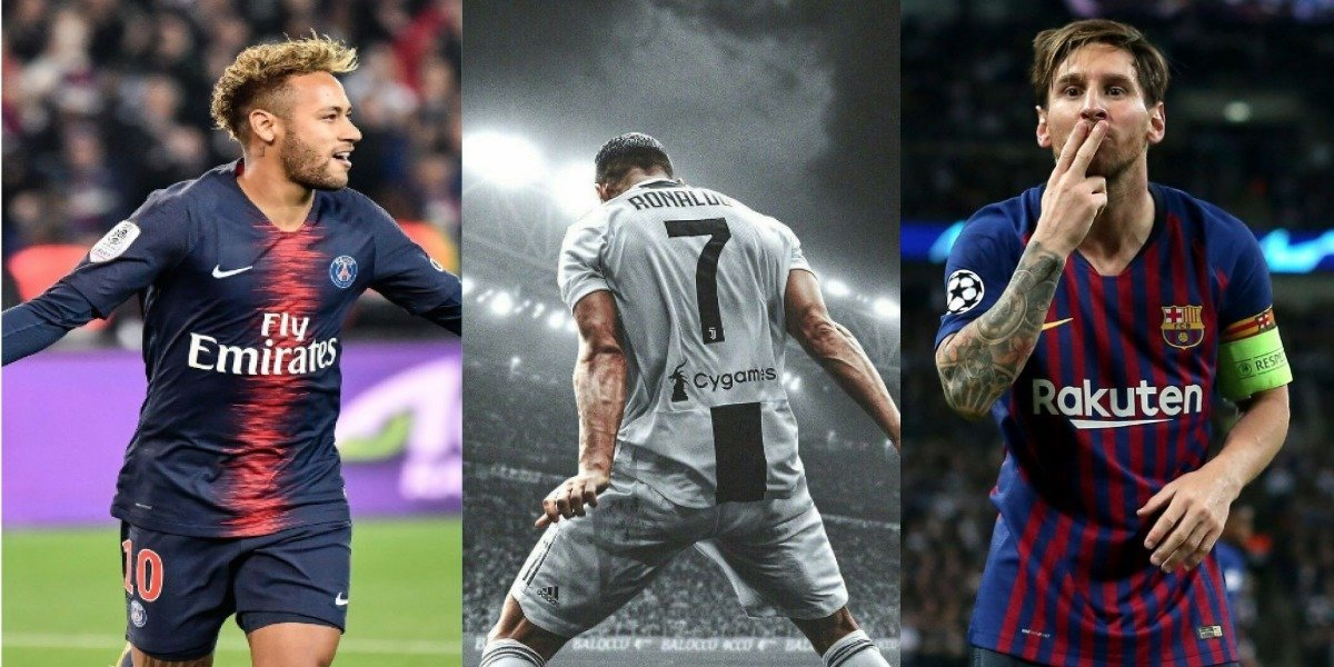 Esto ganan al año Cristiano, Messi y Neymar