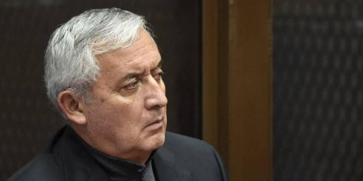 Sala ordena que se programe audiencia donde Otto Pérez pedirá salir de prisión