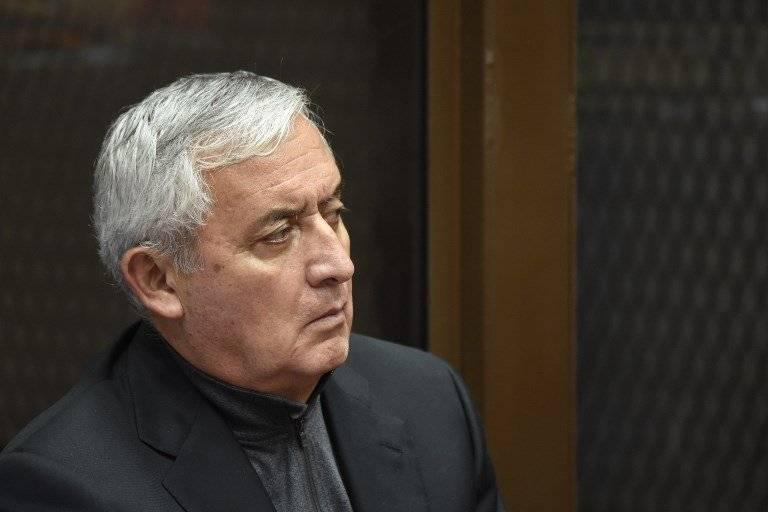 Juan Carlos Monzón señaló al expresidente Otto Pérez Molina como jefe de una red criminal. Foto: AFP