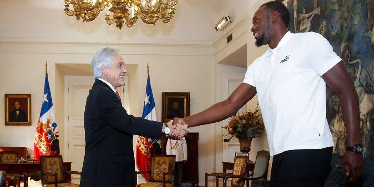 Usain Bolt le responde a Sebastián Piñera en Twitter con el mismo meme