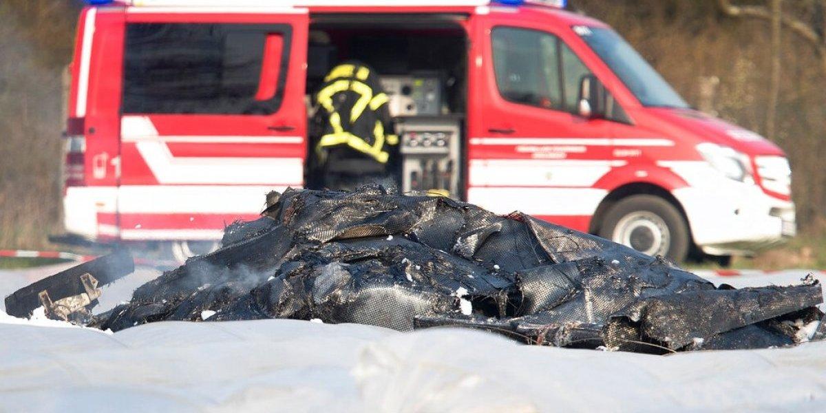 Recuperan cuerpos de la avioneta estrellada en Alemania