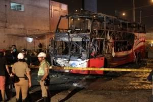 Incendio de autobús en Perú