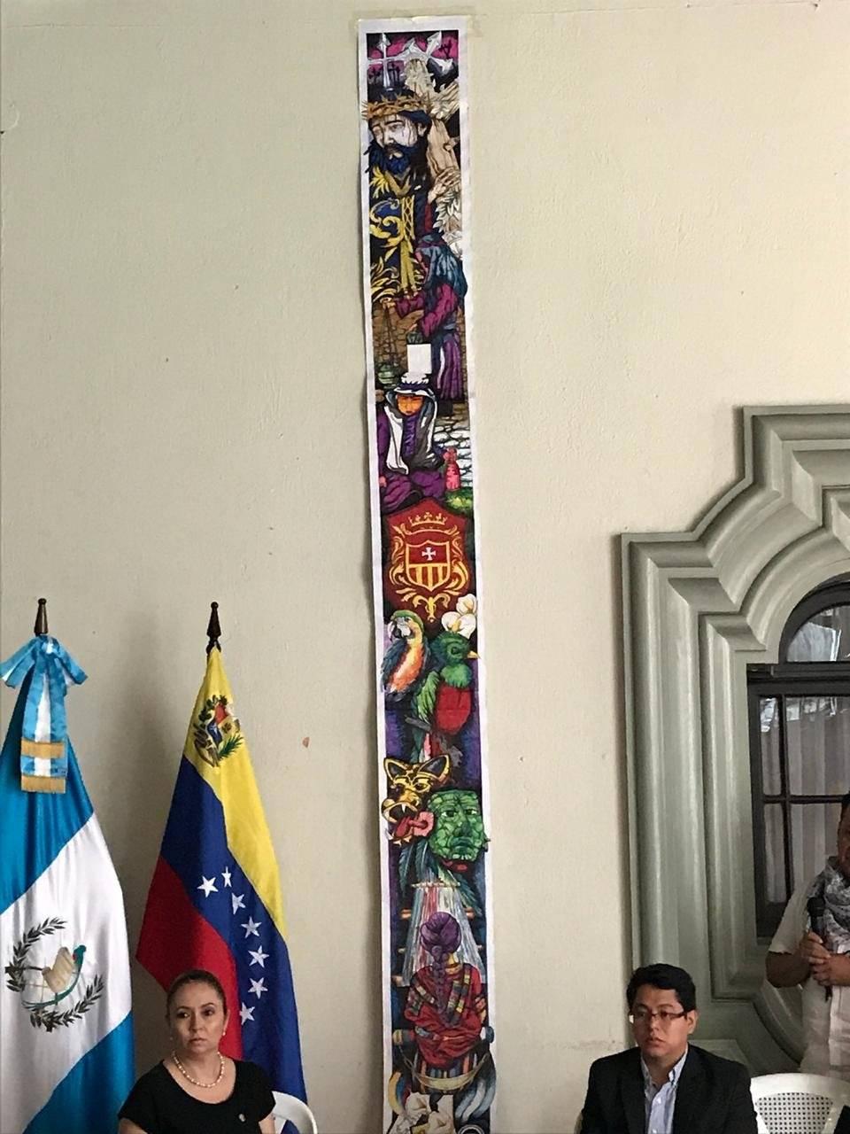 """Alfombra """"Tejiendo esperanza"""" en La Antigua Guatemala José Muralles"""