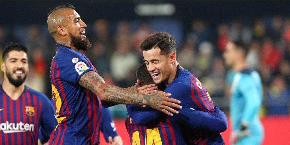 Arturo Vidal está en el top 5 de los máximos asistidores del Barcelona en la Liga de España