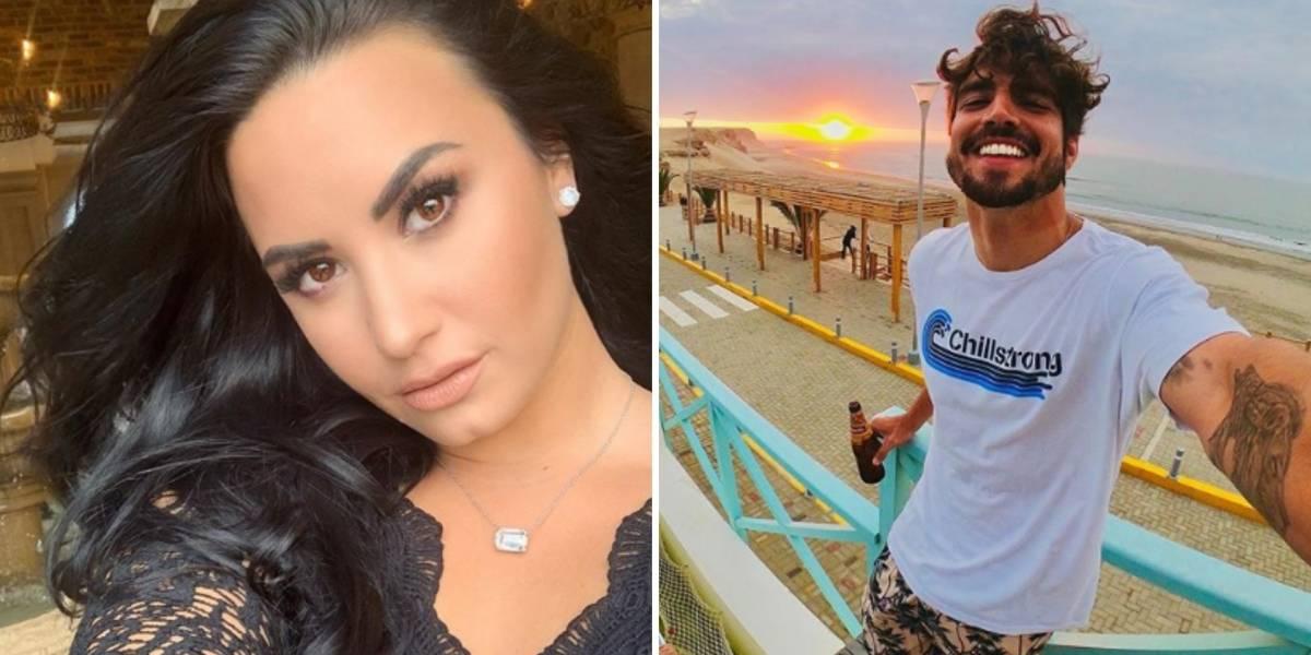 Demi Lovato começa seguir Caio Castro no Instagram e fãs sugerem possível romance