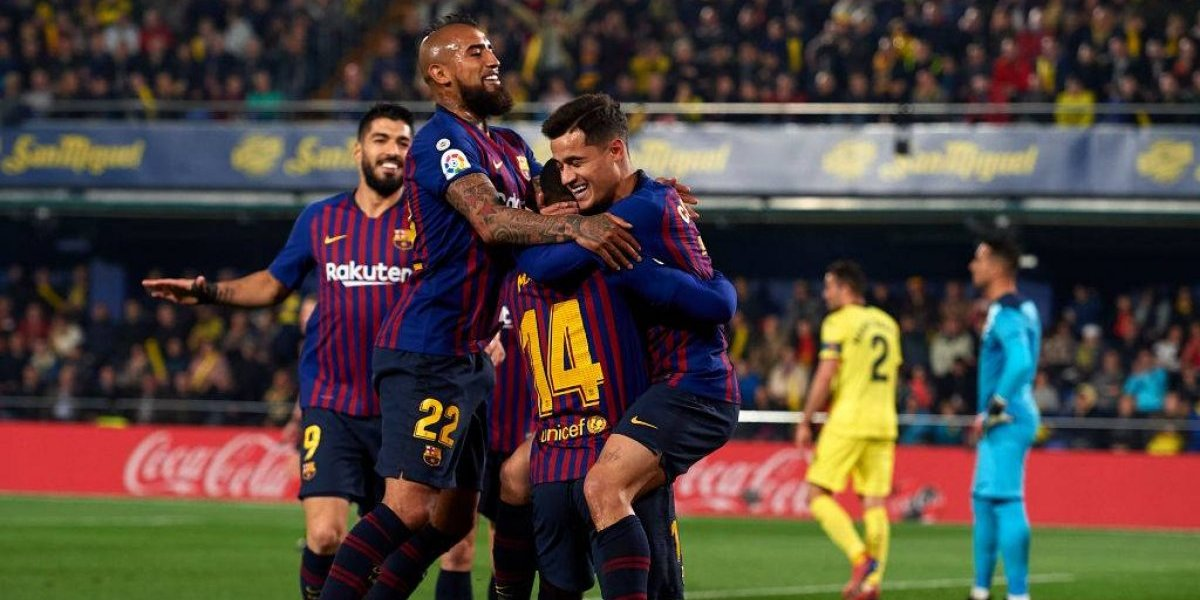 El Barcelona salvó un milagroso empate ante el Villarreal con un asistidor Vidal y dos goles en los descuentos