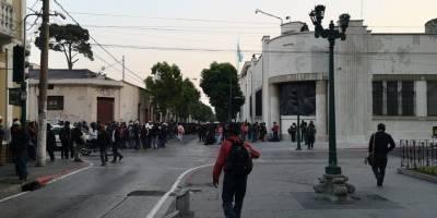 pobladores de Alta Verapaz manifiestan en zona 1