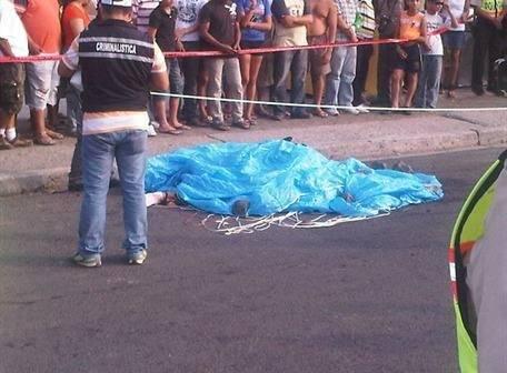 Lugar donde cayó el cuerpo del oficial Santiago Zurita