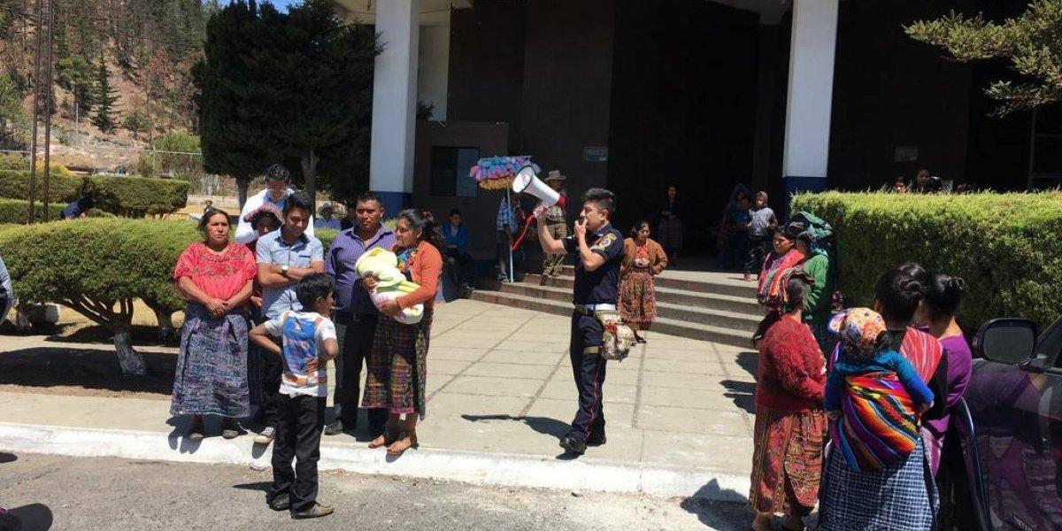Simulacro de sismo en Hospital Nacional de Totonicapán