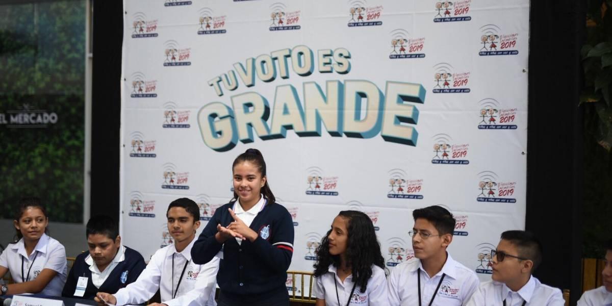 TSE Infantil invita a la niñez a votar; estos son los puntos de empadronamiento