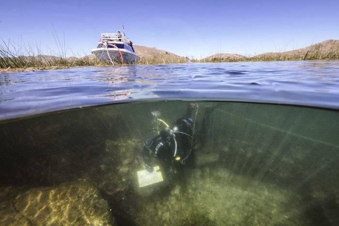 Encuentran en el lago Titicaca restos de una civilización más antigua que los Incas