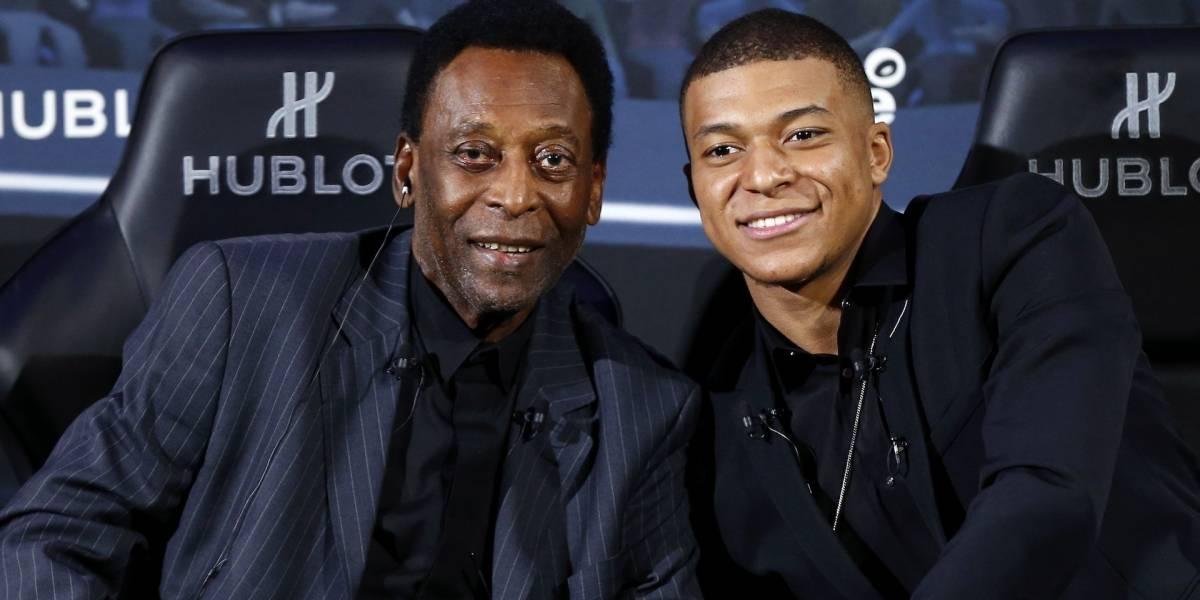¡Triste noticia! Pelé fue hospitalizado en París tras su encuentro con Kylian Mbappé