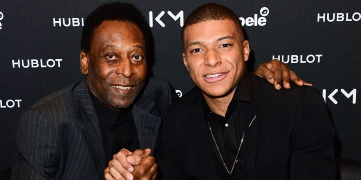 Pelé fue hospitalizado en París luego de reunirse con Kylian Mbappé