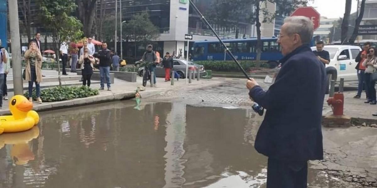 """El cráter que Antonio Navarro convirtió en una """"piscina"""""""