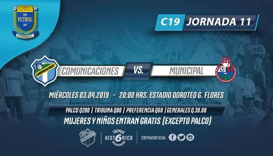 Clásico 305 Comunicaciones vs Municipal