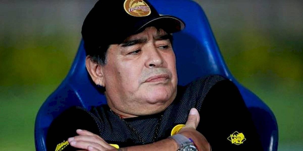 Maradona está aislado tras tener contacto con un caso sospechoso de COVID-19