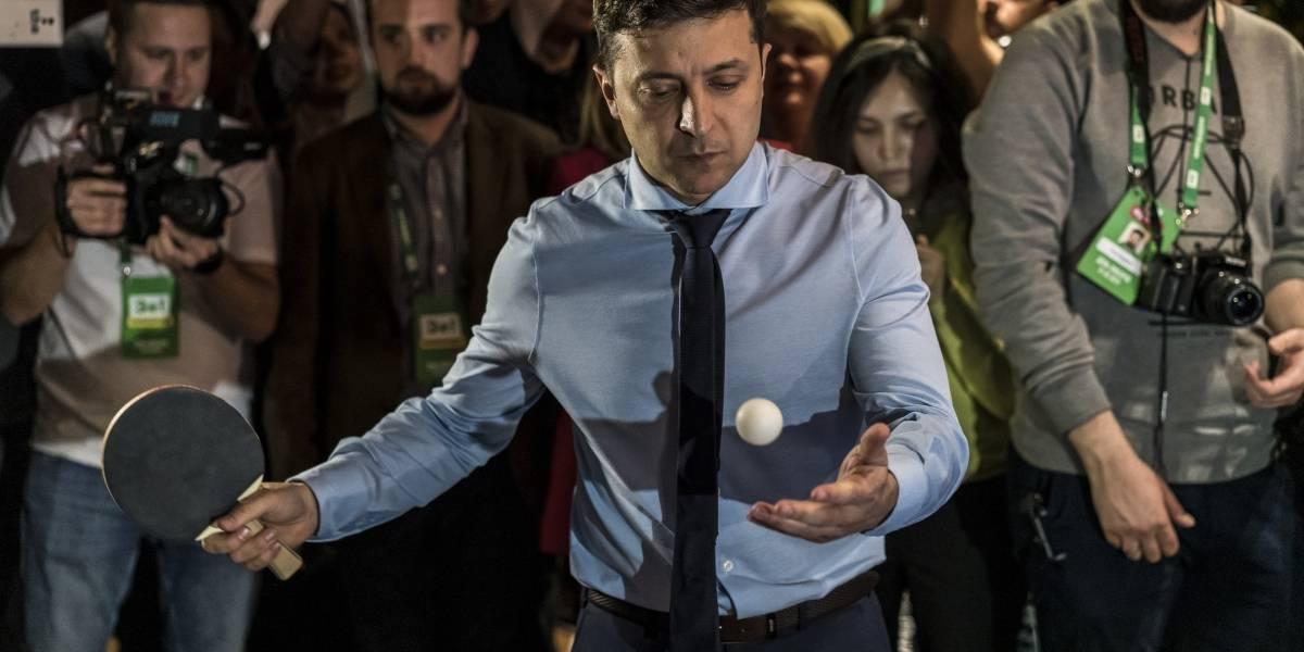 Un comediante de TV podría ser el próximo presidente de Ucrania