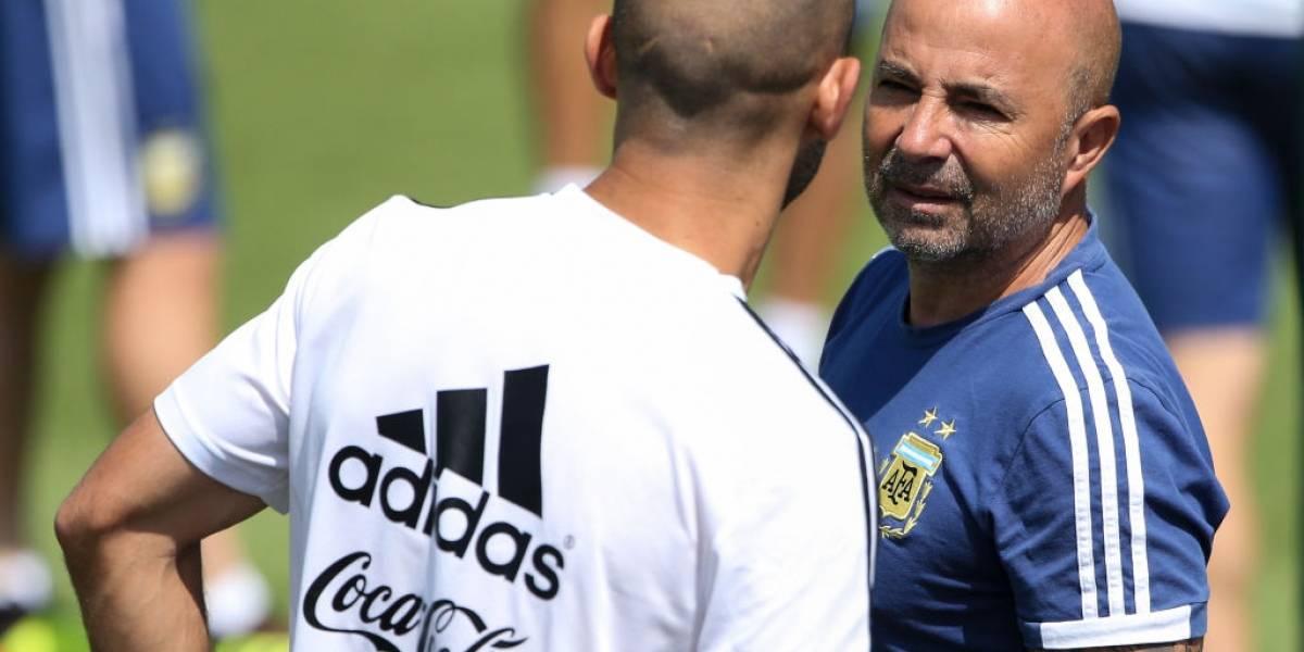 """Mascherano negó que el plantel le hiciera el equipo a Sampaoli en el Mundial: """"Siempre hubo respeto por su figura"""""""