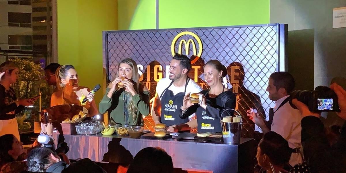 McDonald's presentó en Quito la nueva Bacon Smokehouse de la línea Signature Collection