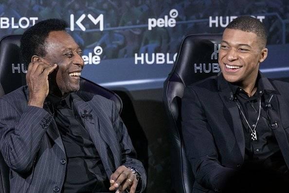 Pelé y Mbappé