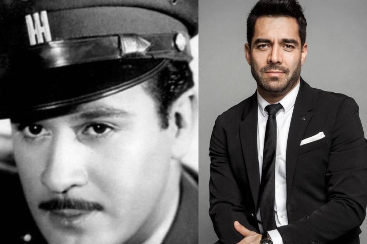 Muestran a Omar Chaparro caracterizado como Pedro Infante