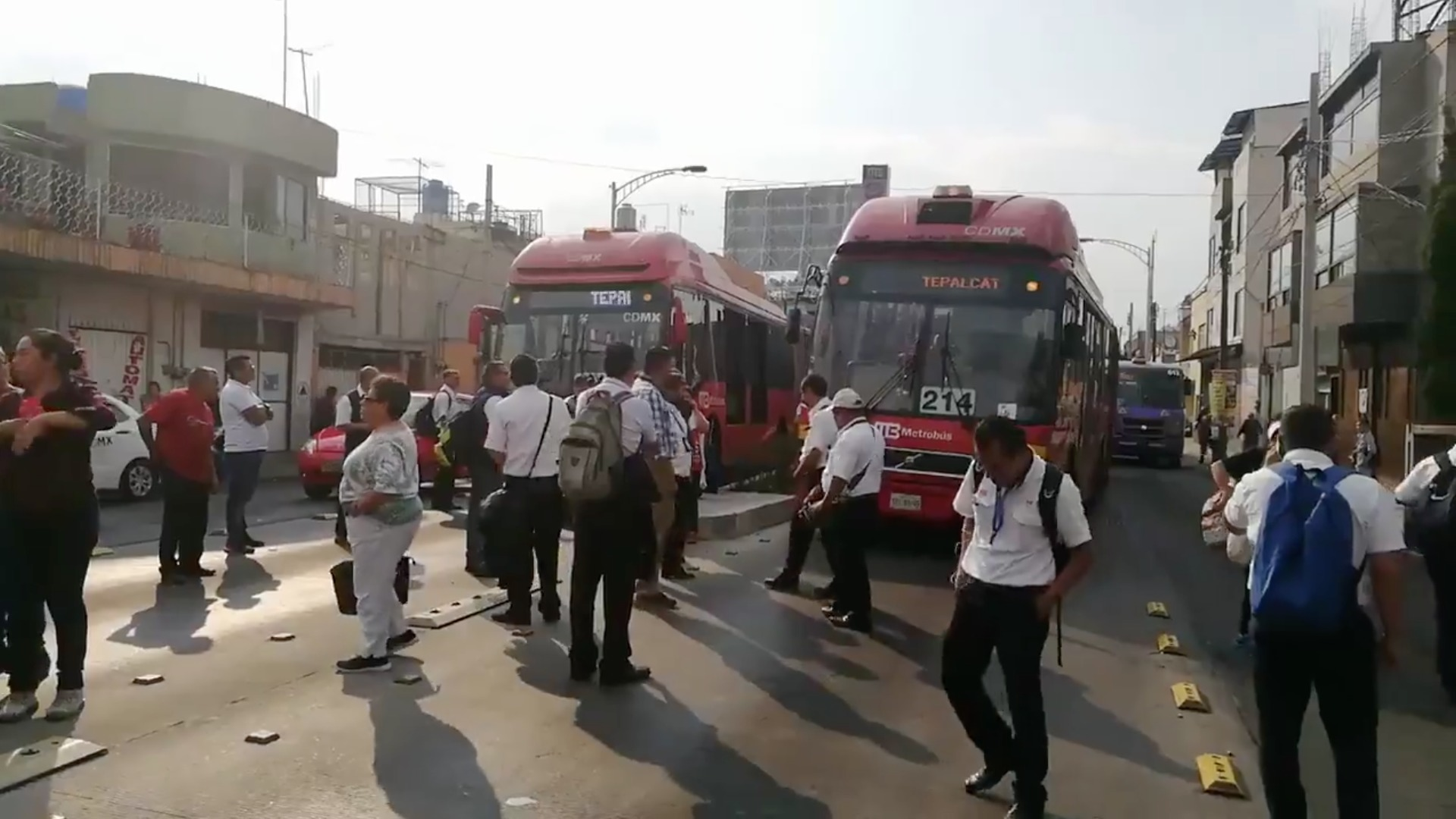 Metrobús paro