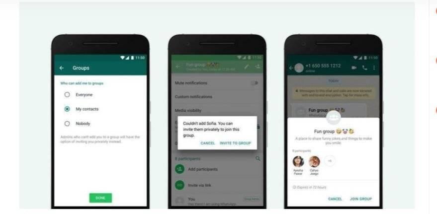 WhatsApp habilita opción para que no te agreguen a grupos sin tu permiso